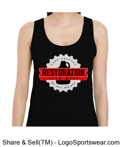 Gildan Ladies Softstyle Raceback Tank Design Zoom